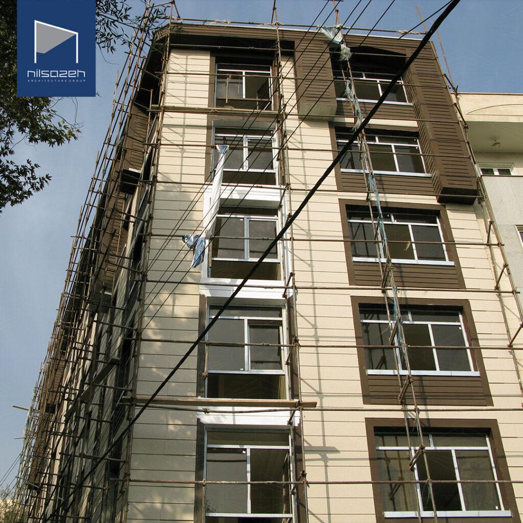 طراحی و اجرای نمای ساختمان مسکونی قیطریه