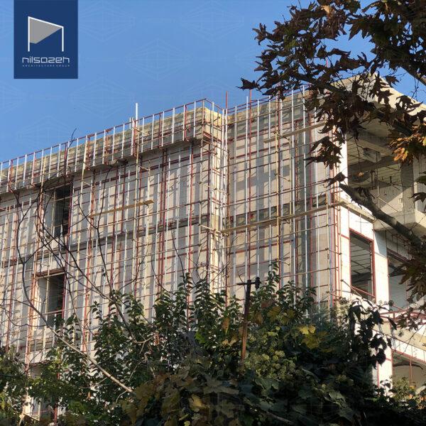 طراحی و اجرای نمای ساختمان مسکونی مهرشهر کرج